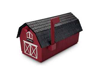 メイルボックス 牛舎型